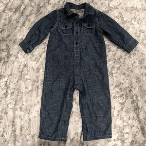 Gap 1969 Baby Denim Jean Onesie 18-24 Months